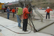 Rapid Set concrete was used at the Recycling and Transfer Station to replace the current worn out concrete slab