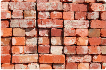 Red brick used or new available from George Throop Company in Pasadena, CA