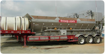 Concrete mobile batch plant from George Throop Company in Pasadena, CA