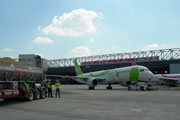 Smaller photo of Throop company about to start on Atlanta Airport concrete runway project