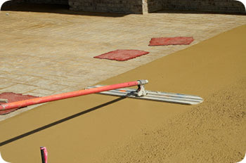 Colored concrete mix is a specialty by George Throop Company in Pasadena, CA
