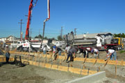 Photo of L.A. Public Library Concrete construction by Throop Company - A LEEDS project