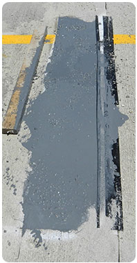 Concrete road repair product that makes repairing freeway cracks easy and fast