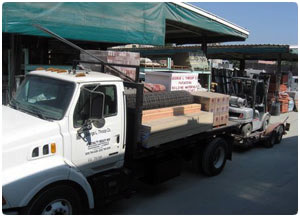 George Throop Building Materials in Pasadena delivers construction materials with equipment, if needed, on time. We can deliver any other building materials anywhere in the United States