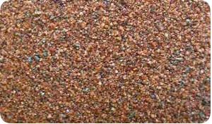 Photo of Garnet sand. It is used in a multi-rock multi-media water filtration system.