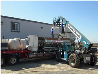 Multiple buildings on an island needed concrete and grout pumped. Coordinating the logistics of loading and unloading supplies was handled by the Throop Company