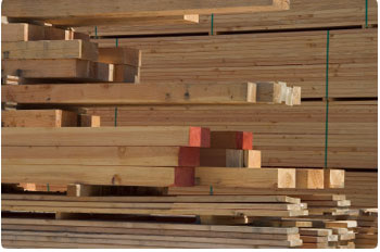 Lumber available from Throop Company in Pasadena, CA