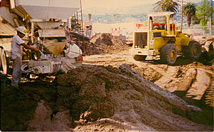 Remediation soil cleanup project on contaminated polluted dirt in Santa Barbara by the George Throop Company