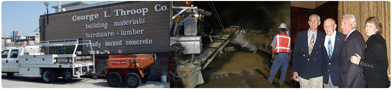 About George Throop Company Concrete production producers Pasadena, CA, Rapid Set concrete and FastPatch road repair