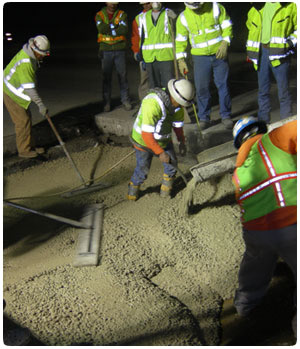 Concrete emergency response with temporary batch plants or mobile batch plants. Respond to repairing concrete in 24 hours