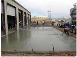 Photo of Throop Company performing concrete production on a remote island off of the California coast