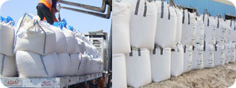 Throop Company sells Silica Sand in bulk around the US and throughout the world in containers