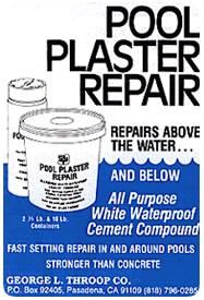 Label of Swimming Pool Plaster Repair - Repairs below and above the water