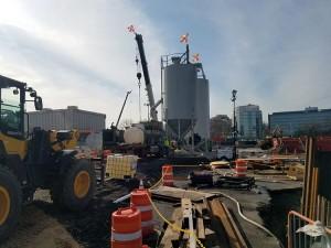 LaGuardia airport concrete Silo and work area